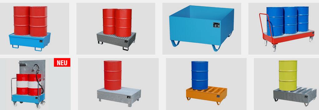 Bild Auffangwannen zur Verfügung gestellt von Bauer Container.
